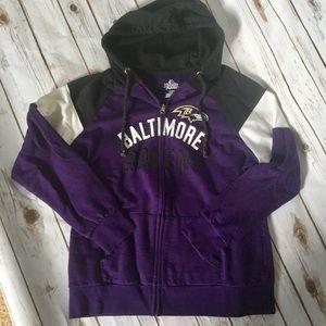 NFL Baltimore Ravens zip up hoodie